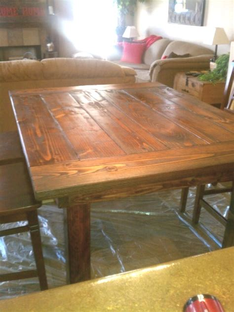 How Many Coats Of Polyurethane On Kitchen Table just add some java diy farmhouse table