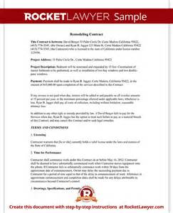 home improvement contract agreement template with sample