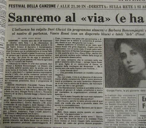 vasco sanremo 1983 la storia festival di sanremo 1983 33 176 edizione il