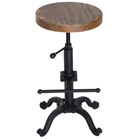 Stool Chair - homcom vintage industrial bar stool height adjustable
