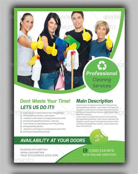 House Cleaning Flyers Template 17 Download Documents In Vector Eps Cleaning Flyers Templates Free