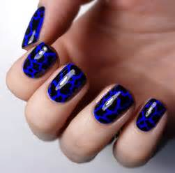 blue and black nail art blue nail art ideas for every