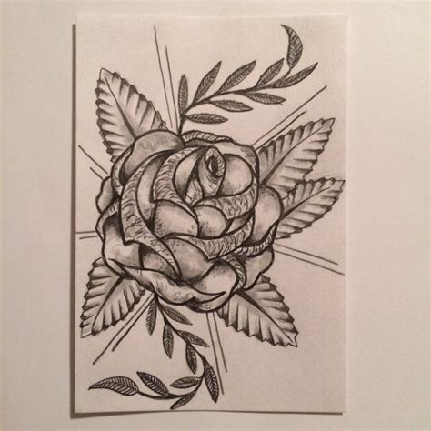 rose tattoo sketch drawing tattoo idea by ranz