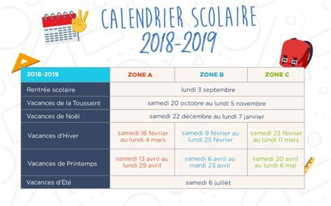 calendrier vacances scolaires 2018 2019