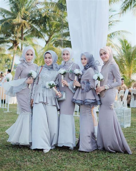Baju Bridesmaid Warna Biru foto 10 inspirasi baju bridesmaid yang kekinian untuk hijabers