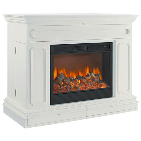 tv lift cabinet with fireplace object moved