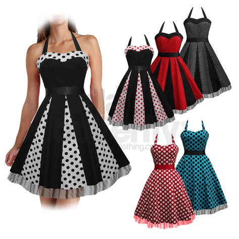 rockabilly swing new black polkadot rockabilly 1950 s 1960 s vintage swing