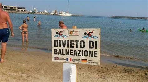 bagni italia sanremo sanremo revoca di divieto di balneazione tra i due porti