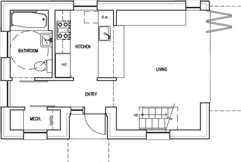 backyard guest house floor plan home design and style
