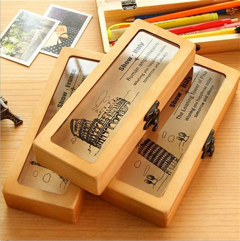 Handmade Pen Holder Design - 2018 handmade new retro wooden pen pencil vintage