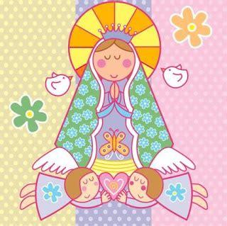 decoracion con virgencitas porfis dibujos coloreados de virgenes