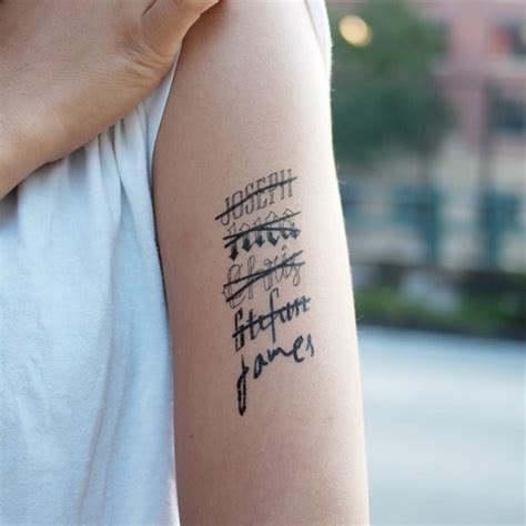 how small can tattoo writing be want a name 80 of the best designs for and