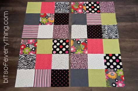 4 Inch Square Quilt Pattern by Big Block Quilt Pattern Bits Of Everything