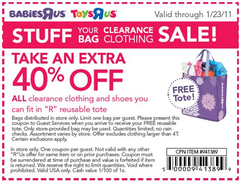 how much ya bench coupon code alicia s deals in az free tote at babies r us plus 40