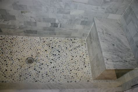 pebble shower floor bathroom design pebble tiles home decorating