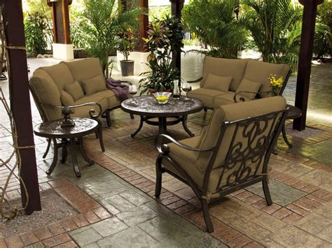 backyard tables meadowcraft patio furniture for frontier area of house