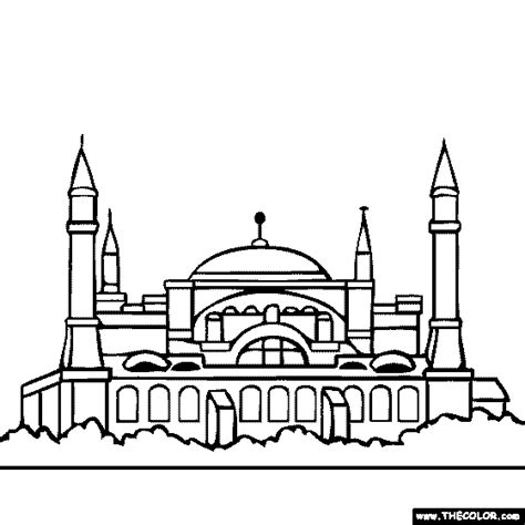 Hagia Sophia Istanbul Turkey Coloring Page Coloring 2 | hagia sophia istanbul turkey coloring page coloring 2