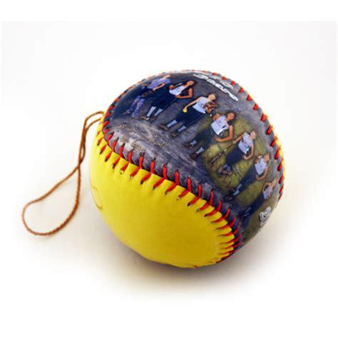 make a ball personalized ornament softball