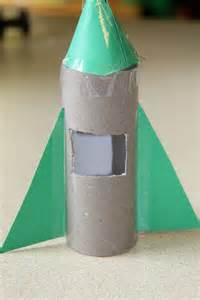 Make Paper Rocket - toilet paper roll craft getcreativewithkids