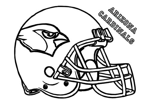 Coloring Pages Nfl Football Helmets | nfl football helmet coloring pages coloring home