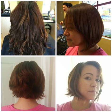 haircut near me pleasant hill before after long to short haircut krystelle did an