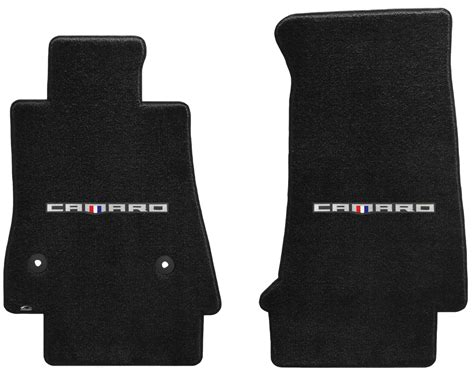 camaro rubber floor mats 2016 2017 camaro logo six ultimat floor mats chevymall