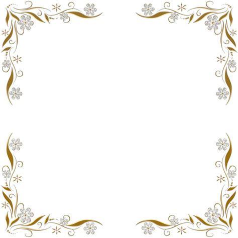 imagenes de marcos dorados marcos y bordes para invitaciones de boda png 800 215 800