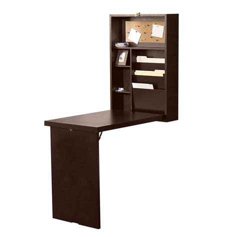 Wall Mounted Desk System by Convertible Wall Mounted Desk Brown