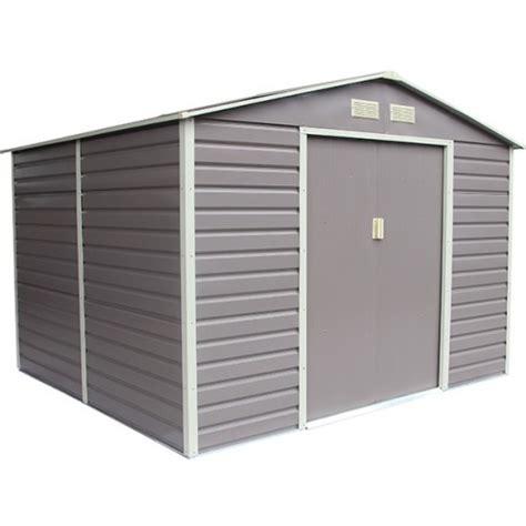 abri de jardin m 233 tal 4 83 m2 coloris gris taupe kit d