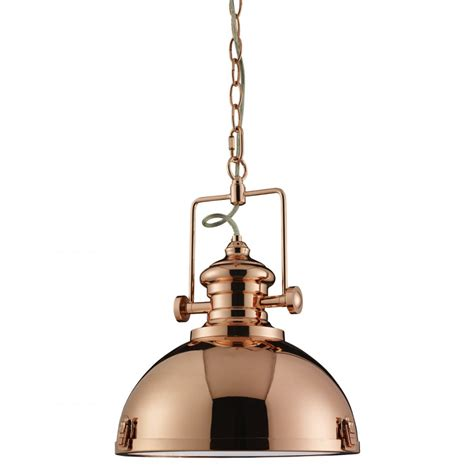 Industrial Pendant Lighting Uk Searchlight Industrial Polished Copper Pendant Ceiling Light 2297co Searchlight From The