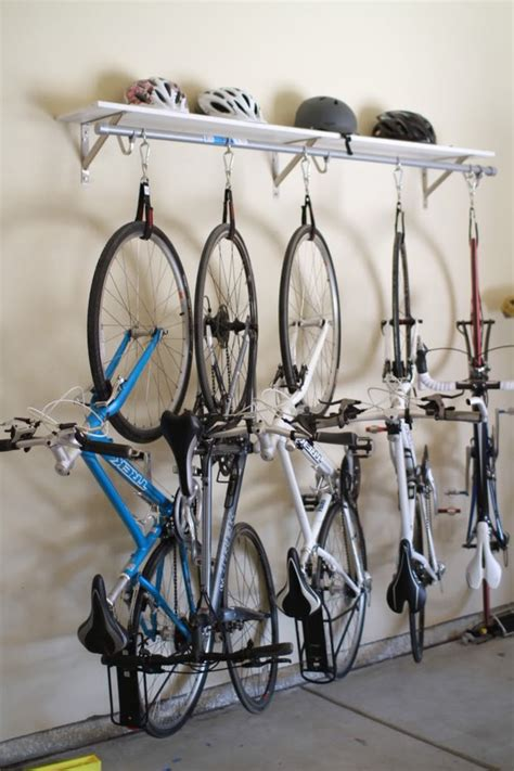 bike rack garage wall gallery diy garage bike rack