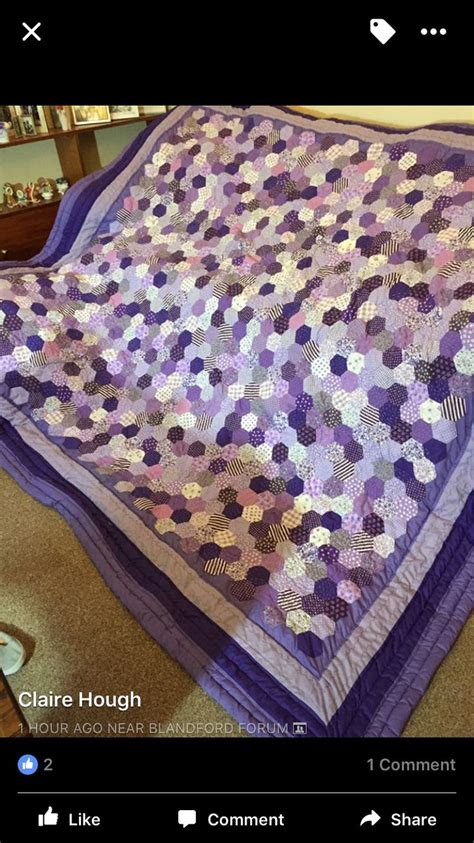 Hexagon Shapes For Patchwork - 197 best images about quilts hexagons large and mall