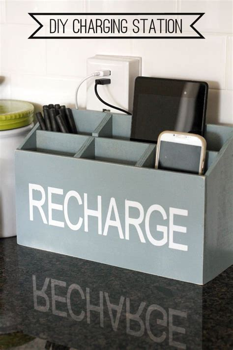 diy home charging station diy charging station a great tutorial to keep all your