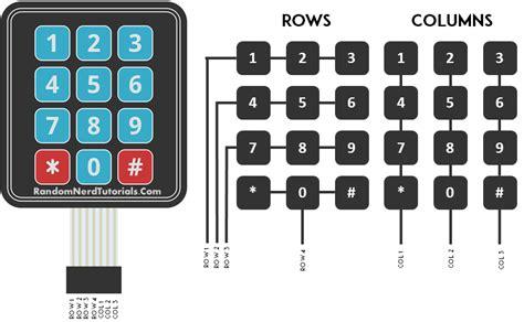 membrane layout design number arduino membrane keypad tutorial random nerd tutorials