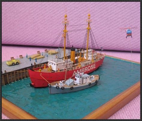 Papercraft Ships - lightship ambrose free ship paper model