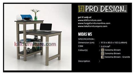 Meja Komputer Pro Design harga meja komputer serbaguna midas prodesign promo