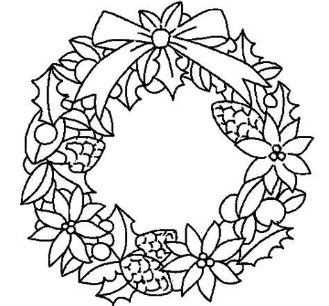 dibujos navideños para pintar gratis desenho de coroa de flores natal 237 cias para colorir