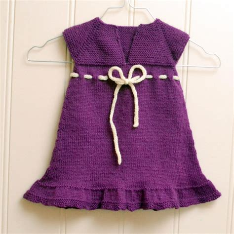 knitted dress baby free knitting baby dress patterns