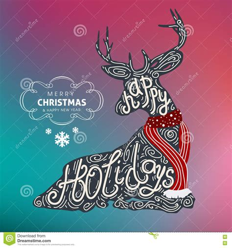 happy holidays merry christmas  happy  year colorful vector design  stock vector