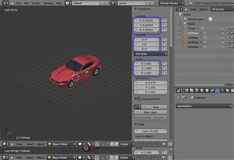 tutorial blender modeling car modelling in blender to the jmonkeyengine file street