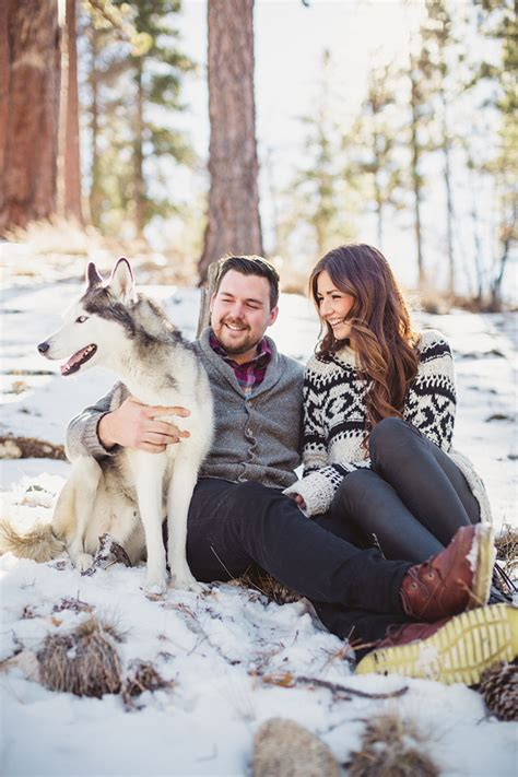 snowy winter engagement session glamour grace