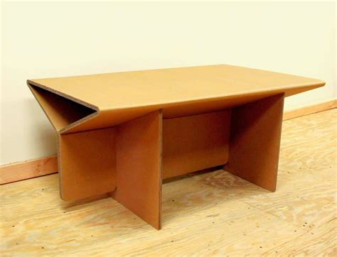 Coffee Table Desk Chairigami Intros A Range Of Furniture Items Specially Crafted From Cardboard Homecrux