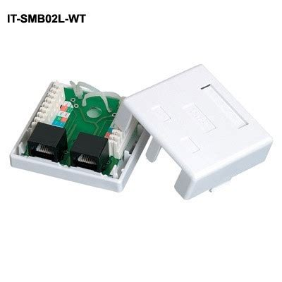 surface mount boxes with cat5e jacks cableorganizer