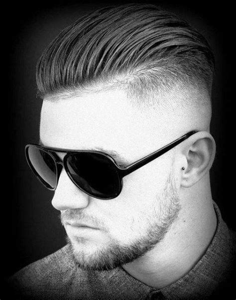 shaved sides slucked back slicked back hair for men 75 classic legacy cuts