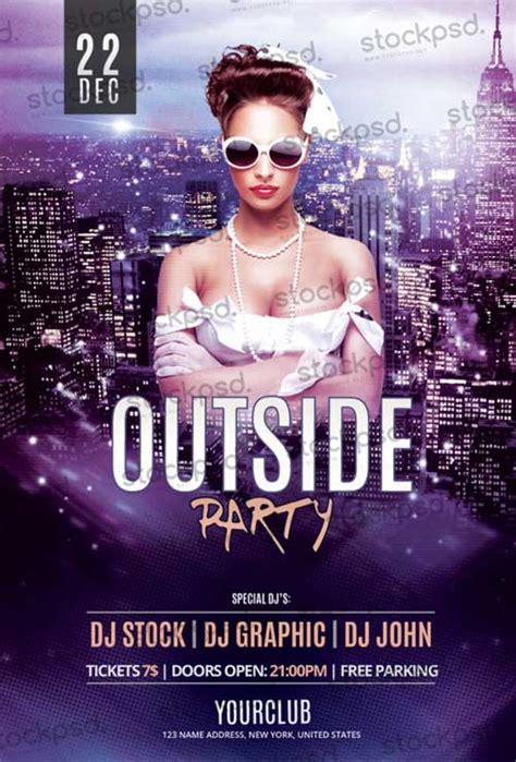 Download The Outside Party Free Flyer Psd Template Flyer Templates Free Psd