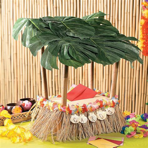 tiki hut valentine box luau card box idea orientaltrading bday