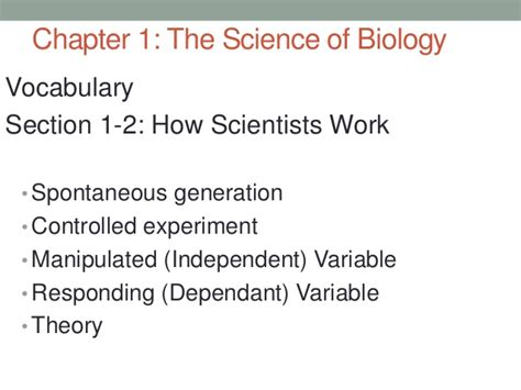 chapter 1 section 2 the nature of science 1 2 how scientists work