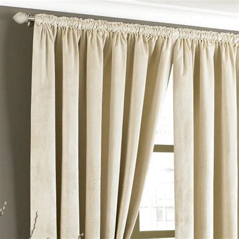 cream velvet curtains imperial velvet woven pencil pleat lined curtains ebay