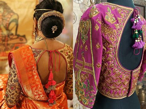 stylish  saree   knot blouse