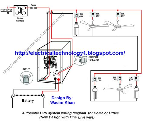Home Electrical Wiring Diagrams by Automatic Ups System Wiring Circuit Diagram For Home Or Office